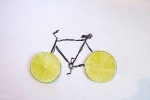 Zitronenfahrrad